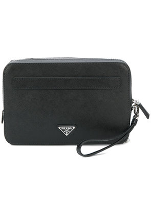 Prada Saffiano zipped pouch - Black