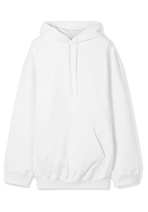 Balenciaga - Oversized Printed Cotton Jersey Hoodie - White