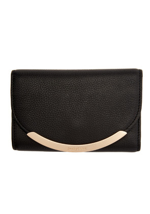 See by Chloé Black Square Foldover Wallet