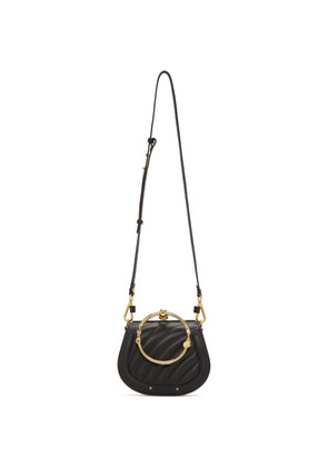 Chloé Black Small Quilted Nile Bracelet Bag