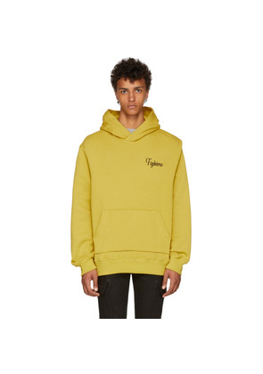 Amiri Yellow Embroidered 'Fighters' Hoodie