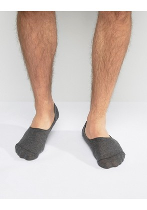 ASOS Invisible Socks In Charcoal - Grey