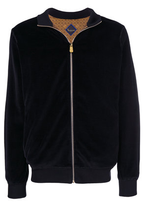 Billionaire embroidered velour tracksuit - Black