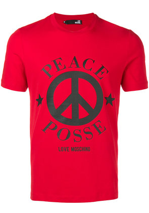 Love Moschino Peace T-shirt - Red