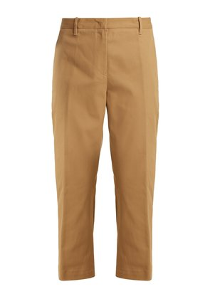 Tommy cropped cotton-blend trousers