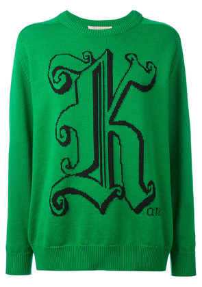 Christopher Kane crew neck sweater - Green