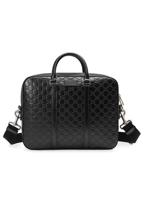 Gucci Gucci Signature leather briefcase - Black