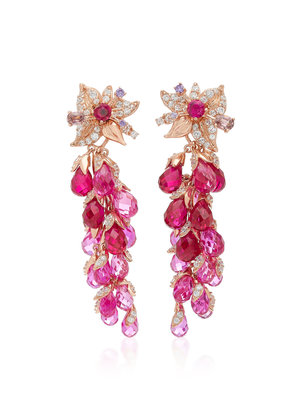 Anabela Chan M'O Exclusive: Ruby Coralbell Earrings