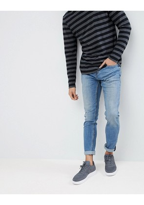 Pull&Bear Slim Jeans In Blue - Blue