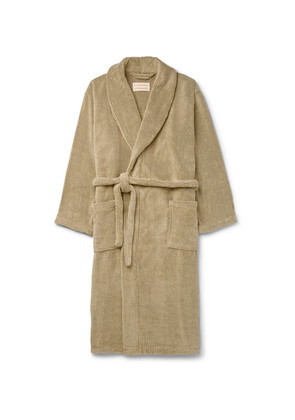 Striped Cotton-terry Robe