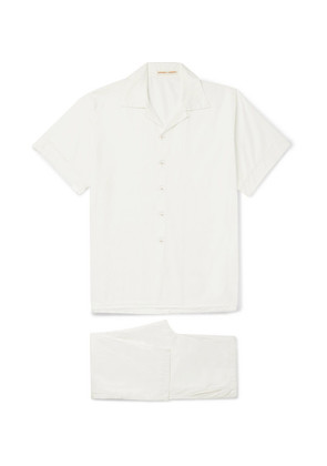 Washed-cotton Pyjama Set