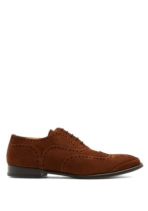 Lace-up suede brogues