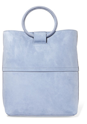Theory - Hoop Mini Suede Tote - Light blue