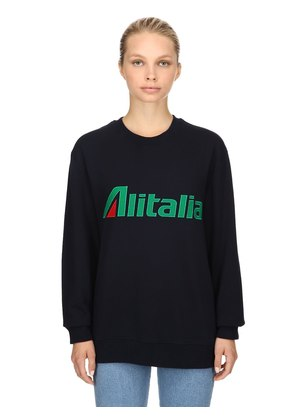 ALITALIA COTTON JERSEY SWEATSHIRT