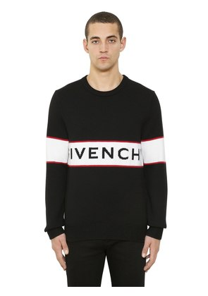 LOGO JACQUARD WOOL KNIT SWEATER
