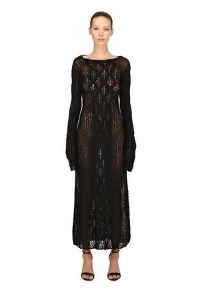 SHEER MOHAIR KNIT DRESS