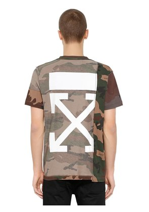 RECONSTRUCTED CAMOUFLAGE JERSEY T-SHIRT