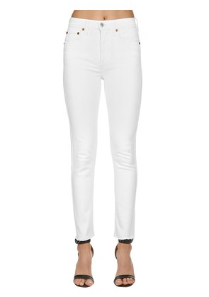 HIGH RISE SKINNY STRETCH DENIM JEANS
