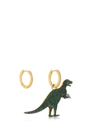 ASYMMETRIC GREEN REXY CHARM EARRINGS