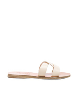 Ancient Greek Sandals Leather Desmos Sandals in White