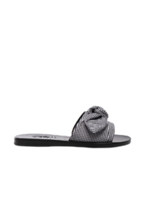 Ancient Greek Sandals Gingham Taygete Bow Sandals in Black,Checkered & Plaid