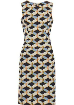 Milly Woman Kendra Printed Cotton-blend Faille Dress Multicolor Size 0