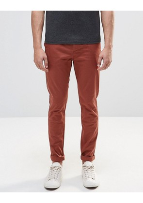 ASOS Skinny Chinos In Brown - Friya brown
