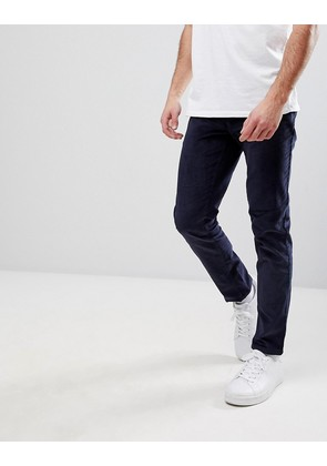 Burton Menswear Skinny Cord Trousers In Navy - Navy