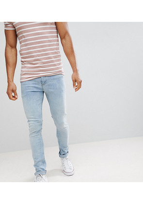 Noak Super Skinny Jeans In Vintage Light Wash - Light wash blue