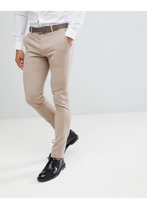 ASOS Super Skinny Smart Trousers In Stone - Stone