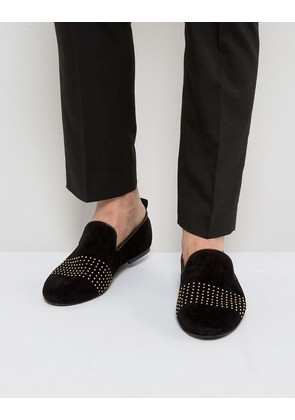Frank Wright Loafers With Gold Stripe - Black