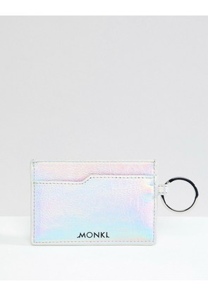 Monki holographic card holder in silver - Holographic