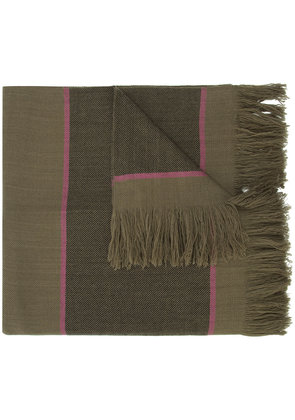 Denis Colomb striped scarf - Brown