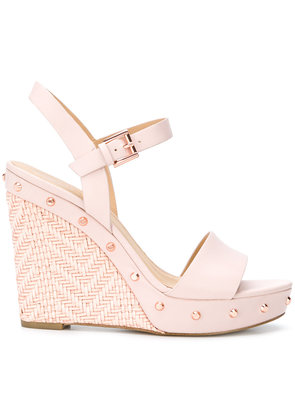 Michael Michael Kors Jill studded wedge sandals - Pink & Purple