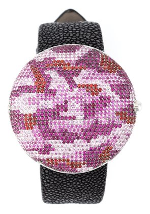 Christian Koban 'Clou' dinner watch with a camouflage pattern - Pink