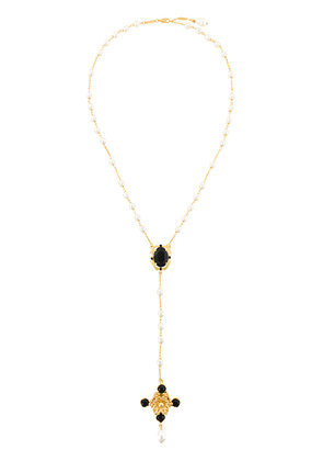 Dolce & Gabbana pear lariat necklace - Metallic