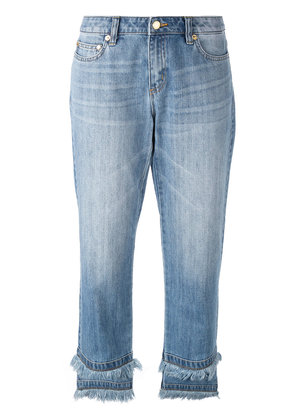 Michael Michael Kors raw hem cropped jeans - Blue