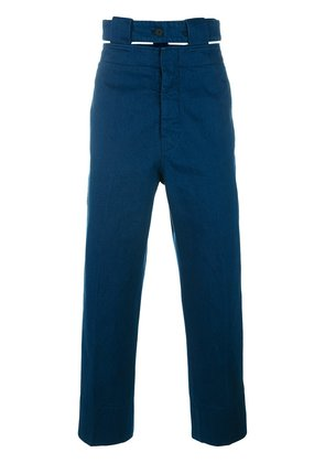 Marni belted straight leg jeans - Blue