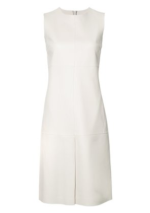 Jil Sander slit detail shift dress - White