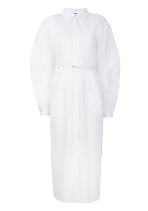 Jil Sander pleated shirt dress - White