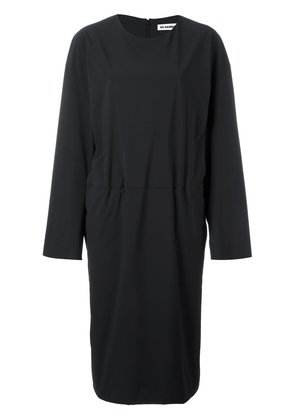 Jil Sander tucked effect dress - Black
