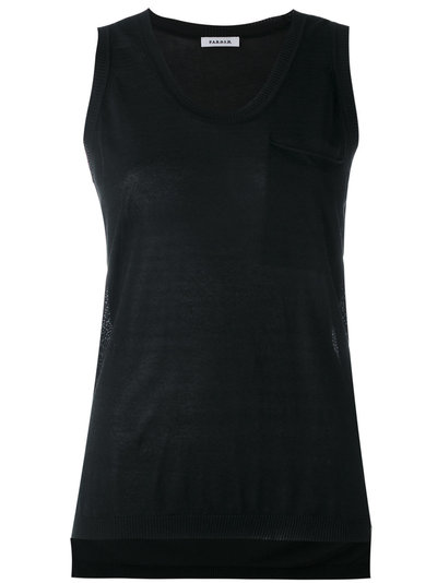 knitted tank top - Black P.A.R.O.S.H. Clearance Shop Offer PkNlEq09