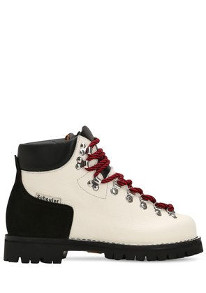 30MM TWO TONE LEATHER HIKING BOOTS