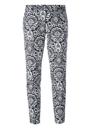 Michael Michael Kors arabesque print cropped trousers - Blue