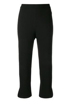 Theory straight cropped trousers - Black