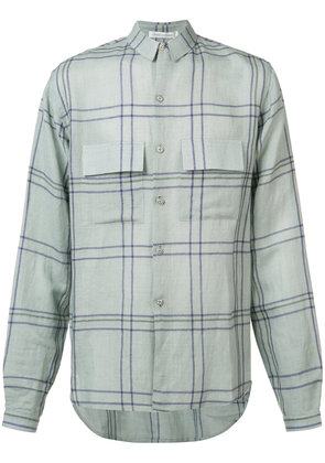 Denis Colomb check button-up shirt - Blue