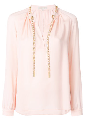 Michael Michael Kors chain appliqué blouse - Pink & Purple