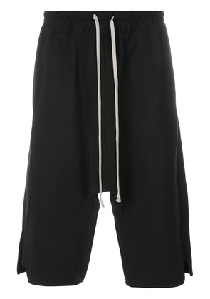 Rick Owens drop-crotch shorts - Black