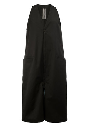 Rick Owens cropped sleeveless jumpsuit - Black