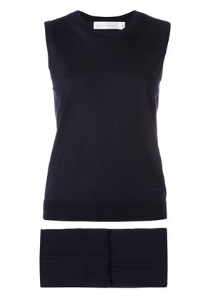 Victoria Beckham knitted tank top and cropped trousers two piece set -